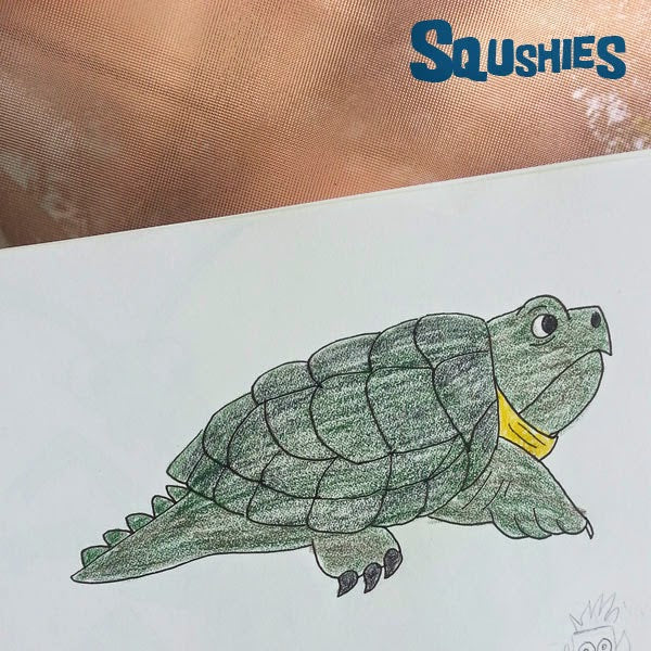 snapping turtle doodle