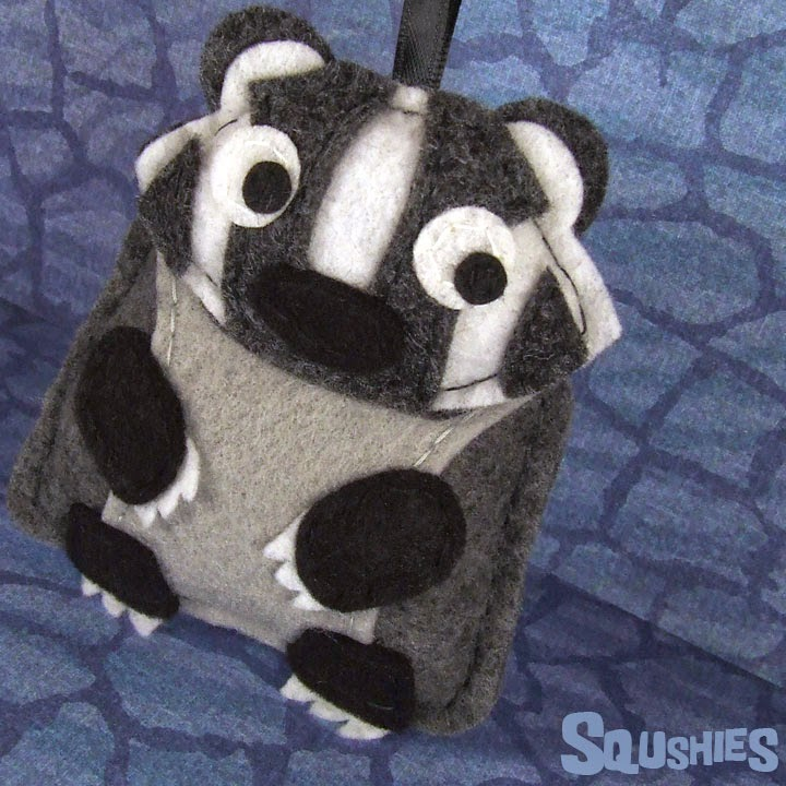 badger felt animal ornament