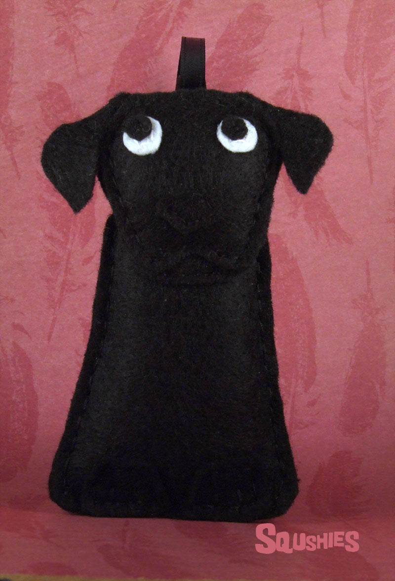 felt labrador tree ornament