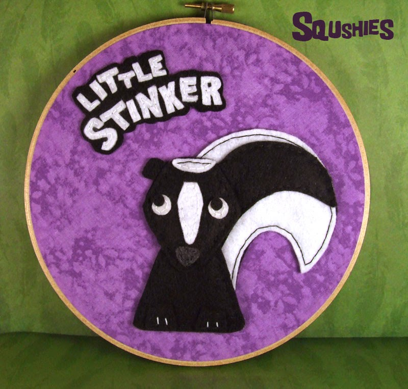 skunk little stinker hoop art