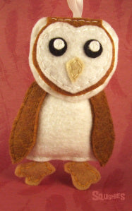 squshies felt animal bird barn owl