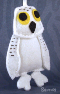 felt bird ornament owl