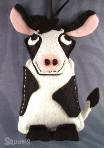 squshies felt animal cow