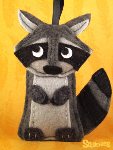 felt animal raccoon squshies