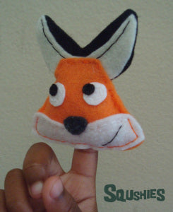 felt animal finger puppet