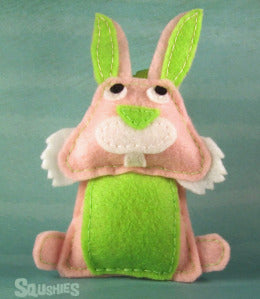 felt bunny ornament