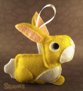 felt animal bunny ornament