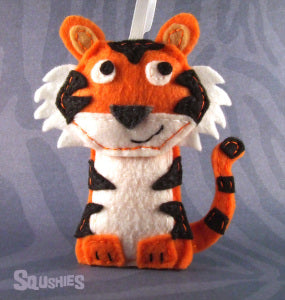 squshies felt animal tiger