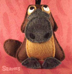 squshies felt animal platypus