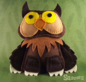 felt owlbear monster