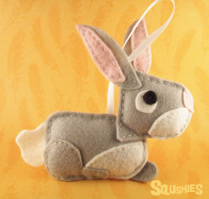 felt animal rabbit ornament