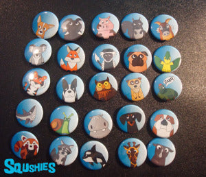 animal buttons