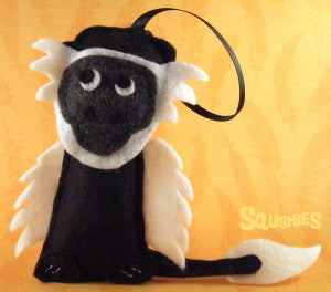 felt monkey ornament