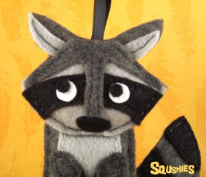 felt animal raccoon