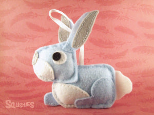 felt rabbit ornament