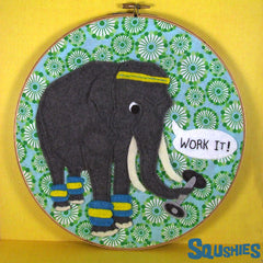 Exercise Elephant Hoop Art