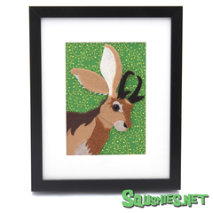 Jackalope Portrait - Green