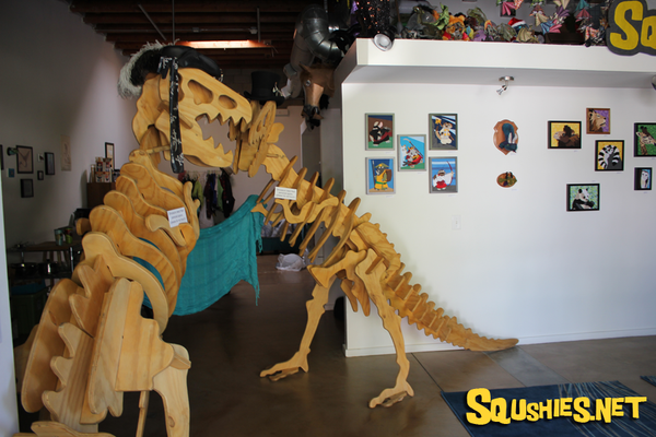 Squshies Giant Wooden Dinosaurs and Gallery Display