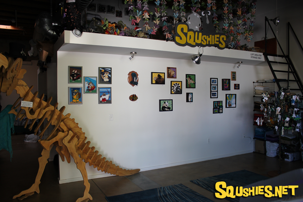 Squshies Ontario Art Walk Gallery Wall