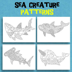 Squshies - Sea Creature Coloring Pages - Patterns