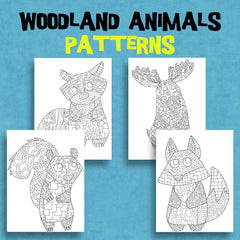 Woodland Animal Coloring Pages - Patterns - Squshies