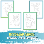 Little World of Beasts - Woodland Animal Coloring Pages - Line Art