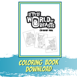 Little World of Beasts Coloring Book Download - Patterned