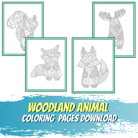 Little World of Beasts - Woodland Animal Coloring Pages - Patterns