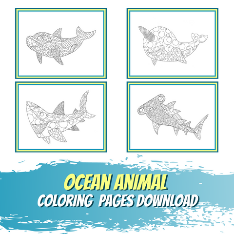 Little World of Beasts - Ocean Animal Coloring Pages - Patterns