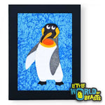 Bowtie the King Penguin Framed - Felt Animal Kids Room Decor - Little World of Beasts