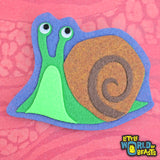 Horatio the Snail Felt Patch - Sew On or Iron On