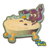 Displacer Beast Takes a Bath - Wooden Pin