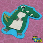 Alligator -Felt Animal Patch