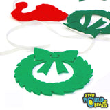 Assorted Pre-cut felt Christmas Shapes