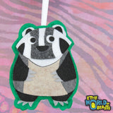 Corbin the Badger - Felt Animal Ornament