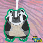 Badger Ornament With Customizable Back