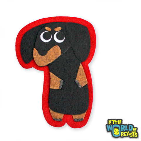 Patch - Iron on or Sew on - Dachshund