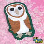 Barn Owl - Felt Bird Patch