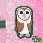 Barn Owl -Iron on or Sew on Patch
