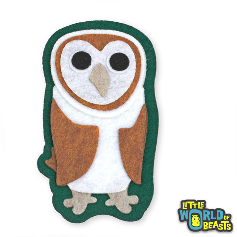 Barn Owl Felt Patch - Iron on or Sew on