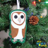 Barn Owl - Felt Christmas Tree Ornament - Little World of Beasts
