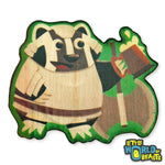 Battle Badger - Wooden Pin