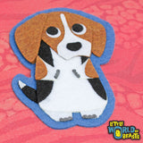 Felt Dog Applique - Beagle - Little World of Beasts