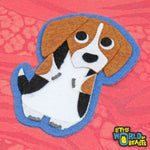Felt Animal Patch - Beagle Iron On Patch