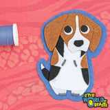 Barclay the Beagle - Felt Patch - Dog Applique