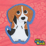 Beagle - Felt Dog Breed Iron on or Sew on Patch