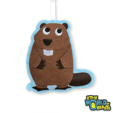 Beaver Customizable Felt Ornament