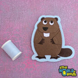 Liam the Beaver - Felt Animal Iron On or Sew On Patch