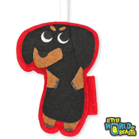 Dachshund Ornament - Handmade Felt Dog