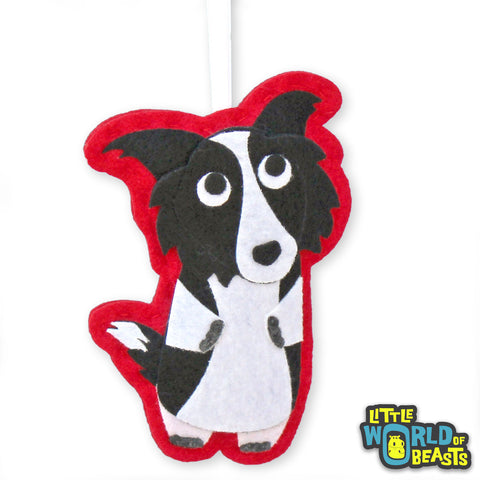 Dorothy the Border Collie - Felt Christmas Ornament -  Little World of Beasts